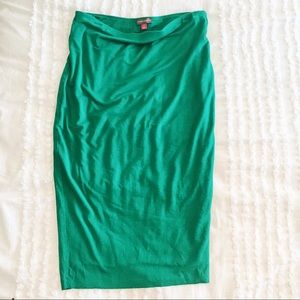 vince camuto bright green pencil skirt